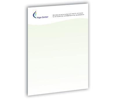Online Letterhead printing Yoga Centre