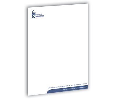 Online Letterhead printing Industrial Units
