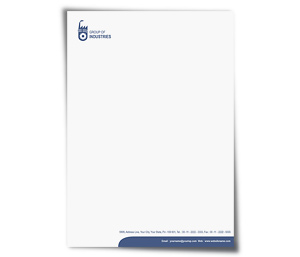 Letterhead printing Industrial Units