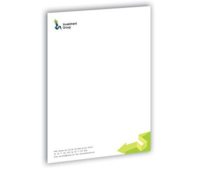 Online Letterhead printing Finance Customer Services