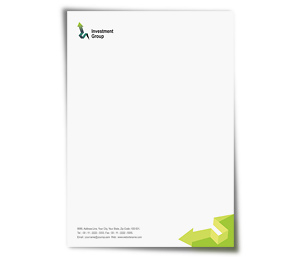 Letterhead printing Finance Customer Services