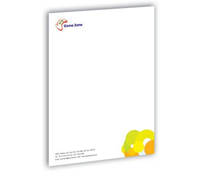Online Letterhead printing Game Zone