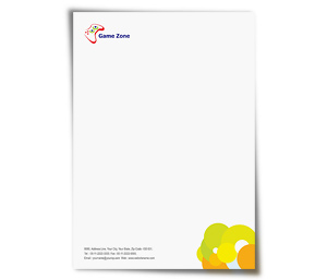 Letterhead printing Game Zone