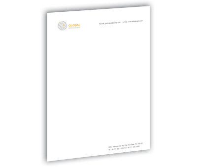 Online Letterhead printing Global Communication Network