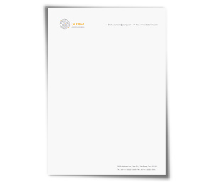 Letterhead printing Global Communication Network