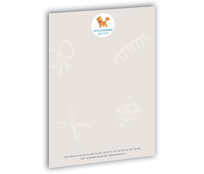 Online Letterhead printing Pet Care Services