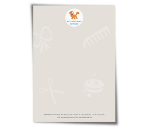 Letterhead printing Pet Care Services