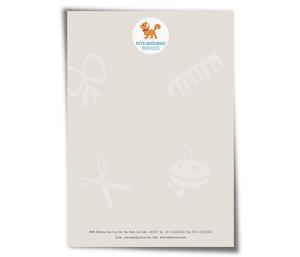 Letterhead printing Pet Care Services
