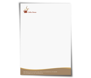 Letterhead printing Coffee Shop