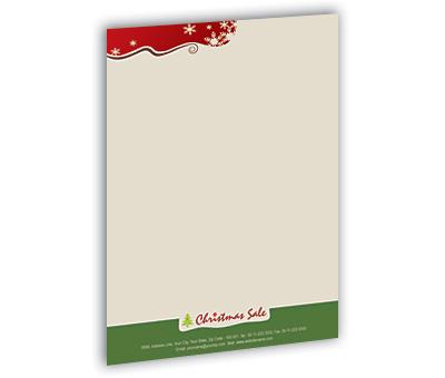 Online Letterhead printing Christmas Gift Shop