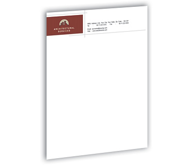 Letterhead Design For Architectural Drafting Service