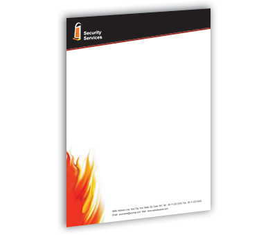 Online Letterhead printing Security System House