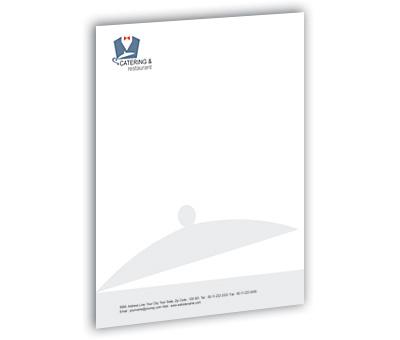 Letterhead design for catering and restaurant offset or digital printing online letterhead printing catering and restaurant spiritdancerdesigns Gallery