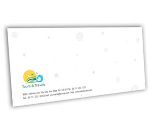Envelope printing Tours And Travels