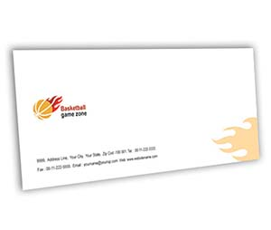 Envelope printing Basketball Game