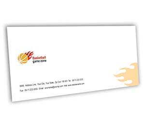 Envelope printing Basketball Game
