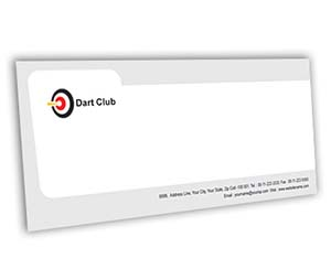 Envelope printing Dart Club