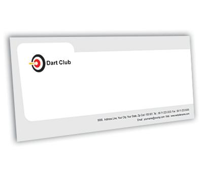 Online Envelope printing Dart Club