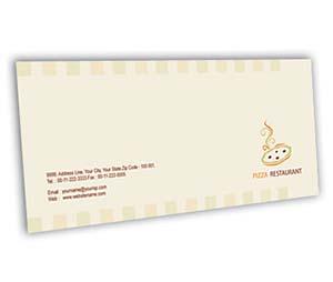 Envelope printing Pizza Corner