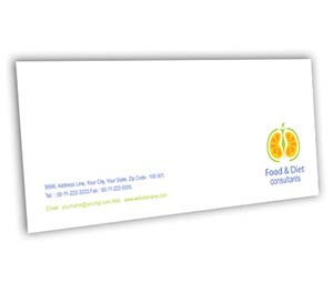 Envelope printing Health Fitness Diet