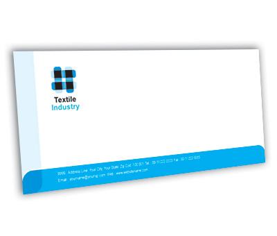 Online Envelope printing Textile Industry