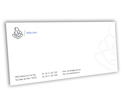 Online Envelope printing Baby Health Care