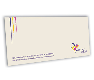 Online Envelope printing Dance School