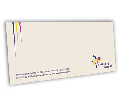 Online Envelope printing Dance School
