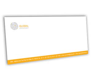 Envelope printing Global Communication Network