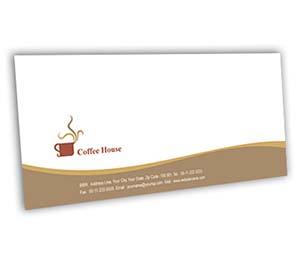 Envelope printing Coffee Shop