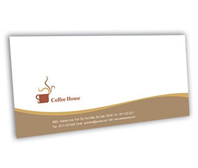 Online Envelope printing Coffee Shop