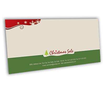 Online Envelope printing Christmas Gift Shop