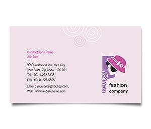 visiting card format online