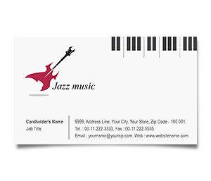 Business card design edit online digital printing offset business card printing jazz band reheart Choice Image