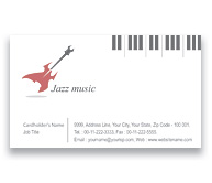 Online Business Card printing Jazz Band