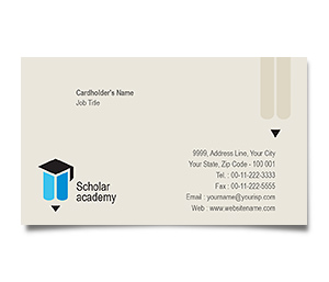 Business Card printing Education Academy