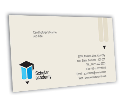 Online Business Card printing Education Academy