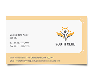 Business Card printing Youth Club