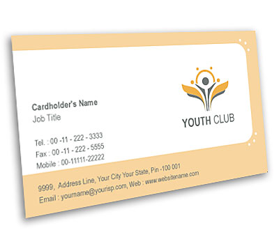 Online Business Card printing Youth Club