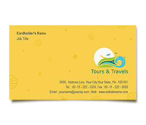 Business Card printing Tours And Travels