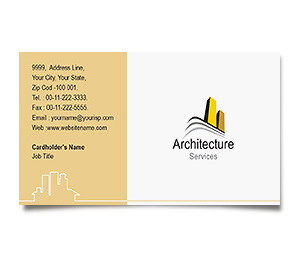 Business Card printing Architecture Building