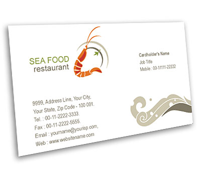 Online Business Card printing Sea Food Restaurant