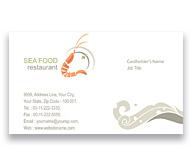 Online Business Card printing Sea Food Restaurant