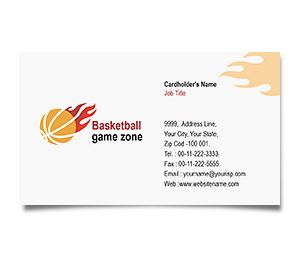 Business Card printing Basketball Game