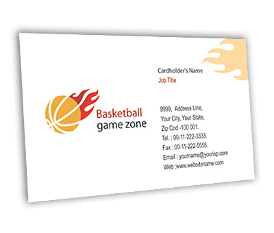 Online Business Card printing Basketball Game