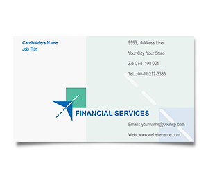 Business Card printing Financial Services