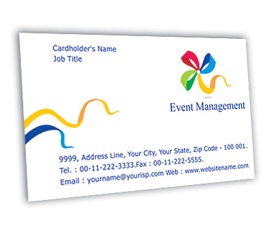 Business card design for event management services offset or digital online business card printing event management services reheart Choice Image