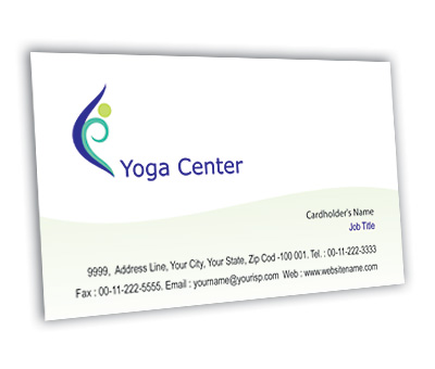 Online Business Card printing Yoga Centre