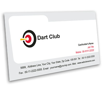 Online Business Card printing Dart Club