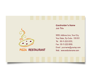 Business Card printing Pizza Corner